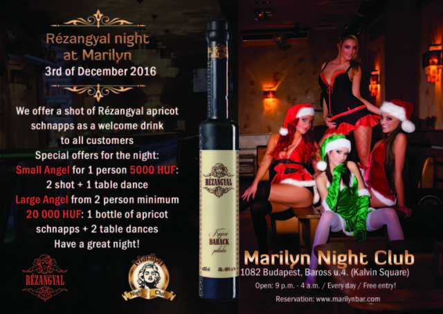 Rézangyal schnapps night at Marilyn Night Club 2016.december 03